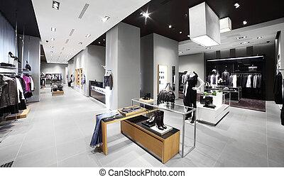 現代, ファッション, 店, 衣服