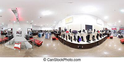 現代, モール, 靴, 内部, 店, ヨーロッパ