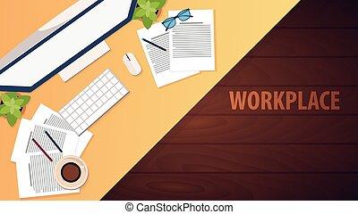 現代, 中心, 大学, オフィス, workplace., 仕事場, co-working, キャンパス