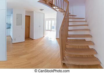現代, 公寓, 由于, 打開, 平面圖, 空, 為, 移動, 進, 以後, 再磨光, 以及, 革新