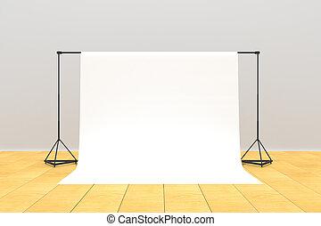 現代, 写真の スタジオ, 内部