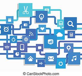 現代, 媒介, 資訊, 摘要, 方案