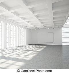 現代, 屋根裏, 空