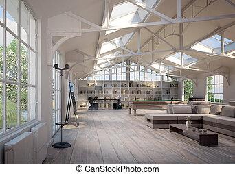 現代, 屋根裏