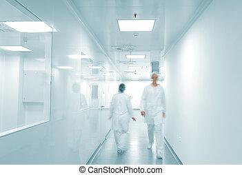 現代, 工作環境, 步行的人, 裡面