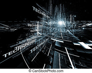 現代 技術, 抽象的