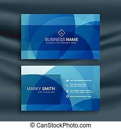 現代, 抽象的, 青, busienss, カード, デザイン
