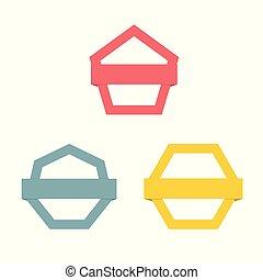現代, 摘要, 矢量, 標識語, 或者, 元素, design.