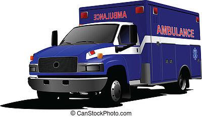 現代, 救急車, バン, 上に, white., c