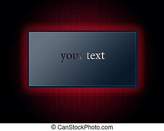 現代, 數字的背景, 在, 紅色, 由于, a, 空白, 廣告欄