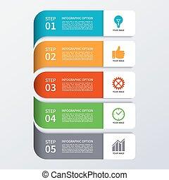 現代, 旗, オプション, ビジネス, infographics