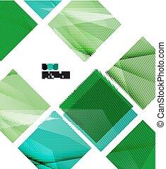 現代, 明亮, 綠色, 樣板, 設計, 幾何學