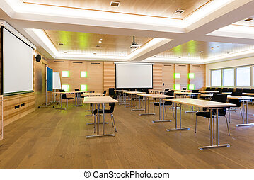 現代, 木製である, 教授, レッスン, クラス, ∥あるいは∥, 会議室