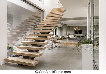 現代, 樓梯, 別墅