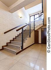 現代, 樓梯, 大理石