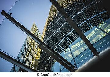 現代, 水晶, 建物, オフィススペース