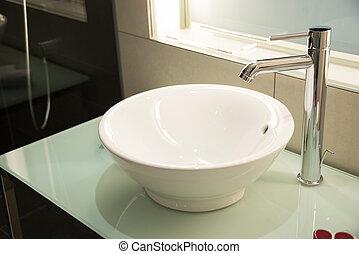 現代, 流し, 中に, ∥, 浴室