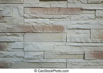 現代, 灰色, 磚牆, 結構