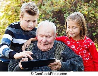 現代, 祖父