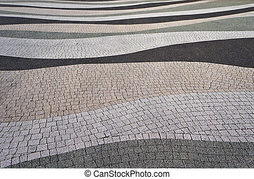 現代, 舗装, texture.