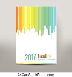 現代, 覆蓋, 年度報告, 小冊子, -, 事務, 小冊子, -, 目錄, 覆蓋, 飛行物, 設計, 大小, a4,...