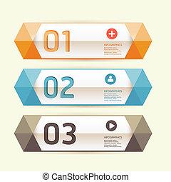 現代, 設計, 樣板, /, 罐頭, 是, 使用, 為, infographics, /, 編號, 旗幟, /, 水平,...