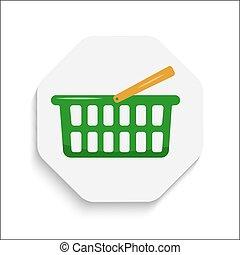 現代, 買い物, 材料, button., カート, デザイン, アイコン
