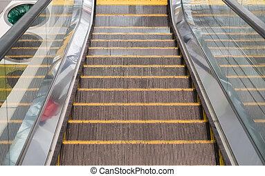 現代, 電動扶梯, 在, 購物中心