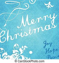 現代, card., 招待, クリスマス
