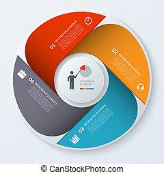 現代, circle., ビジネス, infographics