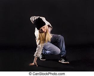 現代, dance., hip-hop.