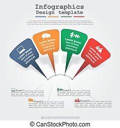 現代, layout., ベクトル, 矢, infographics, 要素