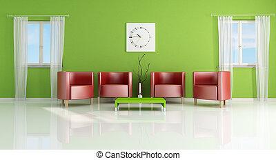 現代, living-, 部屋