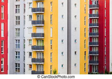現代, multistory建築物