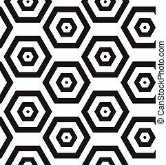 現代, pattern., seamless, clasical, ベクトル, geom, 繰り返すこと, texture.