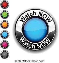 現在, 觀看, button.
