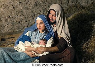 現場, mary, ヨセフ, nativity