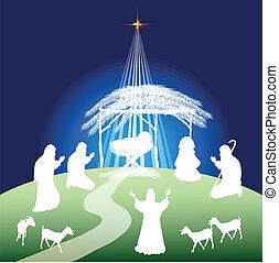 現場, nativity, シルエット