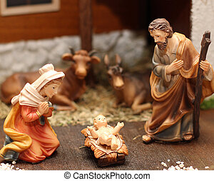 現場, nativity, ヨセフ, イエス・キリスト, 6, mary