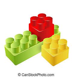 現実的, おもちゃのブロック