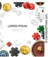 現実的, カジノ, テンプレート, ギャンブル