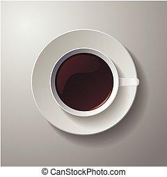 現実的, コーヒー, クラシック, 白いコップ
