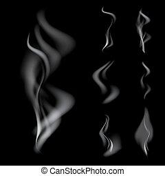 現実的, セット, 煙