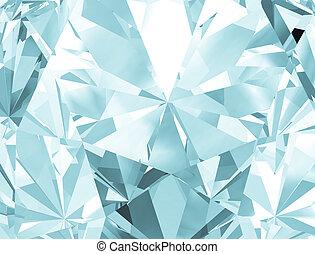 現実的, ダイヤモンド, 手ざわり, 終わり, 3d, illustration.
