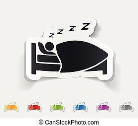 現実的, デザイン, element., 睡眠