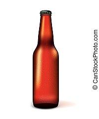現実的, ビール瓶, イラスト