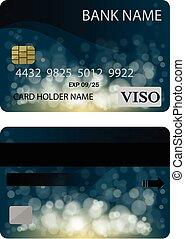 現実的, ベクトル, カード, クレジット