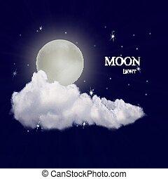 現実的, ベクトル, 月