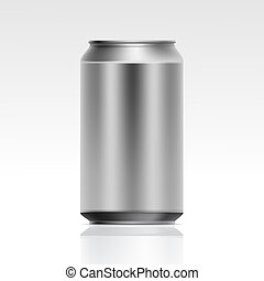 現実的, ベクトル, 金属の缶