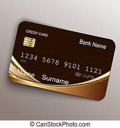 現実的, ベクトル, card., お金, クレジット